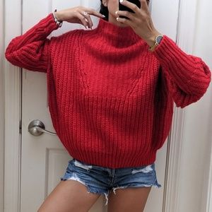 •Anthropologie• Oversize Wool Sweater